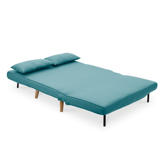 Noel 2 Seater Sofa Bed with Noel Sofa Bed - Teal - 7
