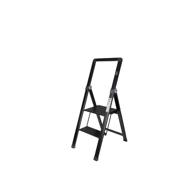 HOUZE Slim Aluminium 2 Tier Ladder - 0