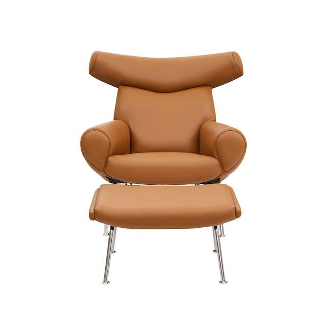 Ox Chair with Ottoman Replica - Tan (Genuine Cowhide) - 1