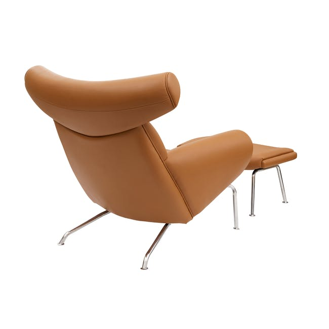Ox Chair with Ottoman Replica - Tan (Genuine Cowhide) - 3