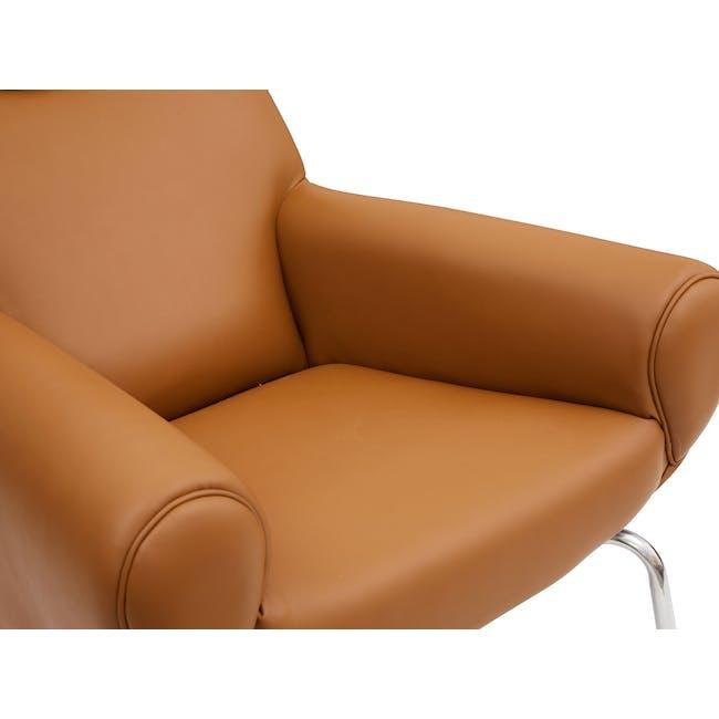 Ox Chair with Ottoman Replica - Tan (Genuine Cowhide) - 4