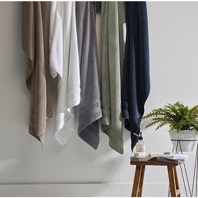 Canningvale Amalfitana Bath Towel - Carrara White - 2