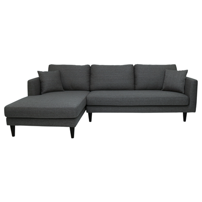 Colin L Shape Sofa - Dark Grey - Image 1