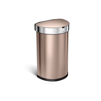 simplehuman Semi-Round Sensor Bin 45L - Rose Gold - Image 1