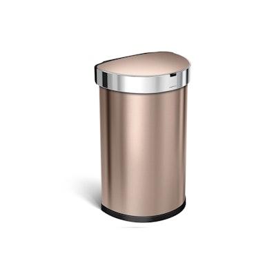simplehuman Semi-Round Sensor Bin 45L - Rose Gold