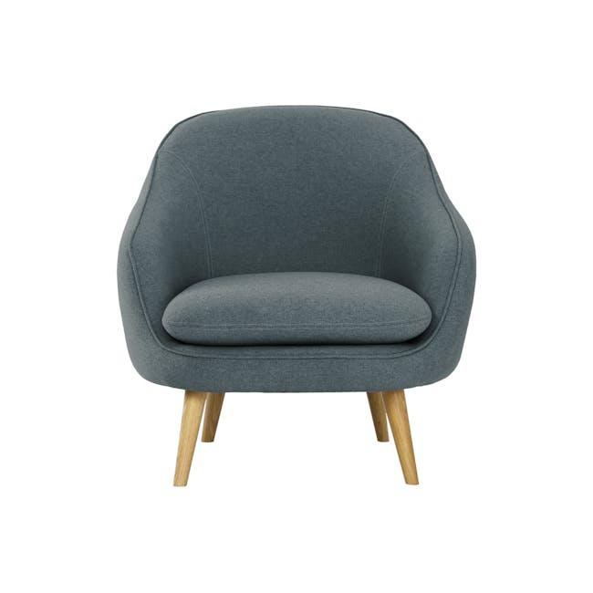 Quinn 2 Seater Sofa with Quinn Armchair - Marble Blue - 1