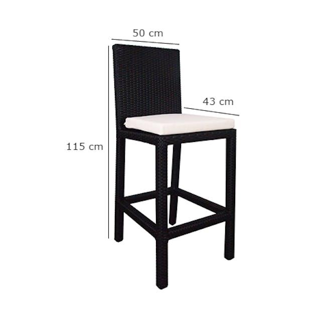 Midas 2 Chair Bar Set - White Cushion - 6