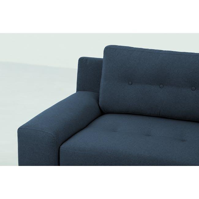Wyatt 3 Seater Sofa - Oxford Blue (Fabric) - 1