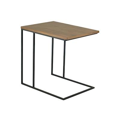 Myron Side Table - Walnut, Matt Black - Image 1