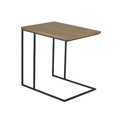 Myron Side Table - Walnut, Matt Black