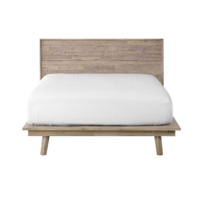Leland King Platform Bed with 2 Leland Twin Drawer Bedside Tables - Image 2