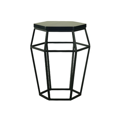 Apollo Stool/Occasional Table - Matt Black - Image 1