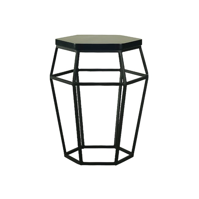 Seifer Coffee Table with Apollo Stool/Occasional Table in Black - 1