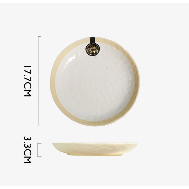 Table Matters Tsuchi White Coupe Plate - 5