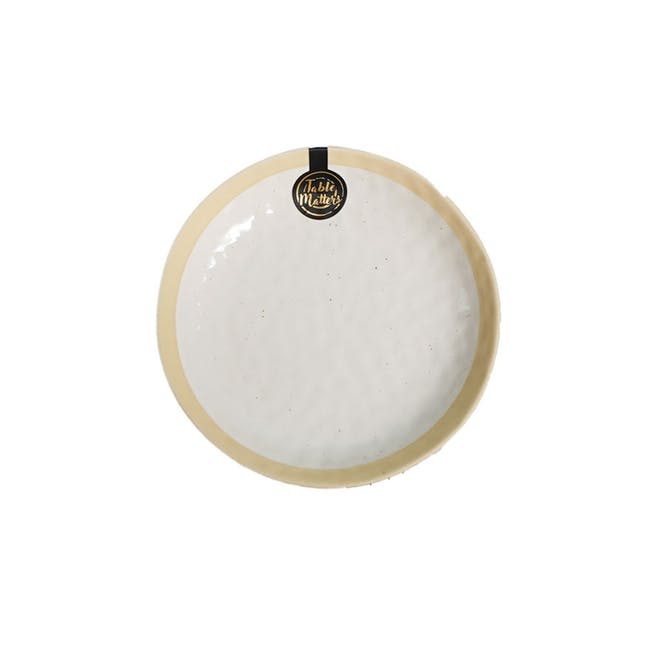 Table Matters Tsuchi White Coupe Plate - 0