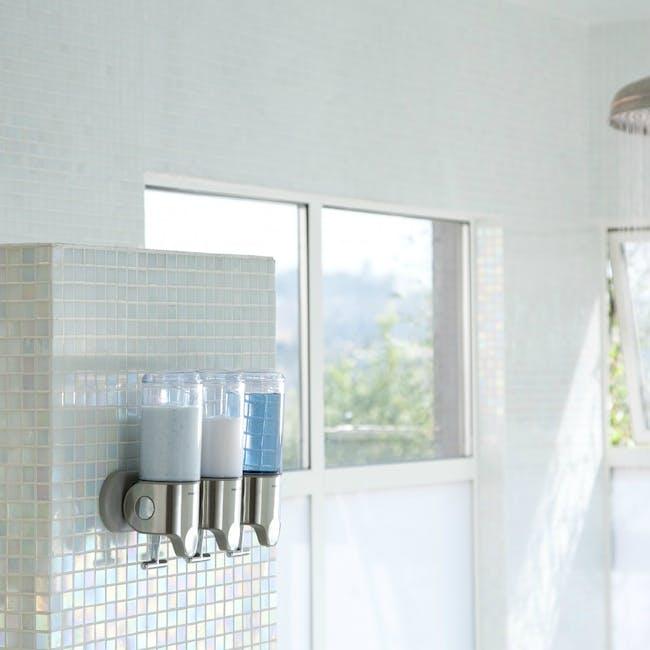 simplehuman Triple Wall Mount Soap Dispenser - 1