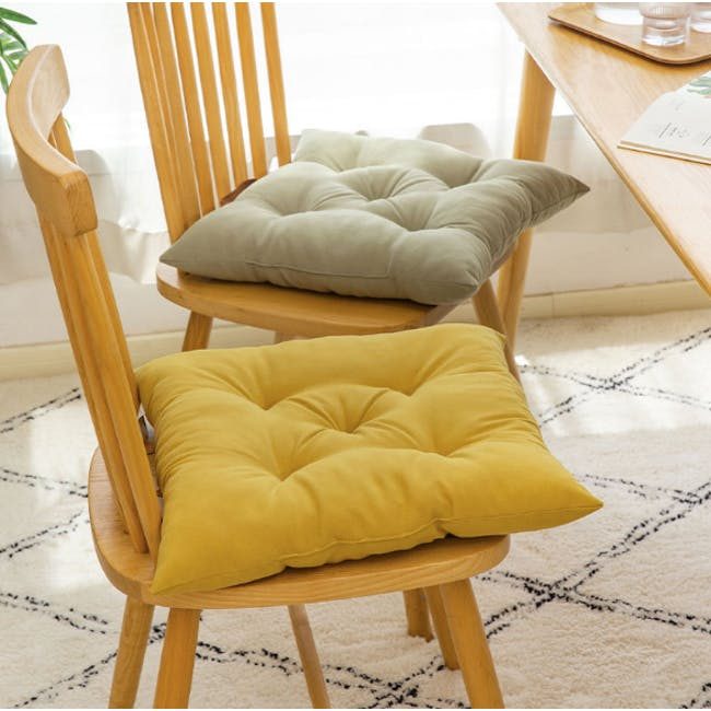 Esme Floor Seat Cushion 40cm - Olive - 1