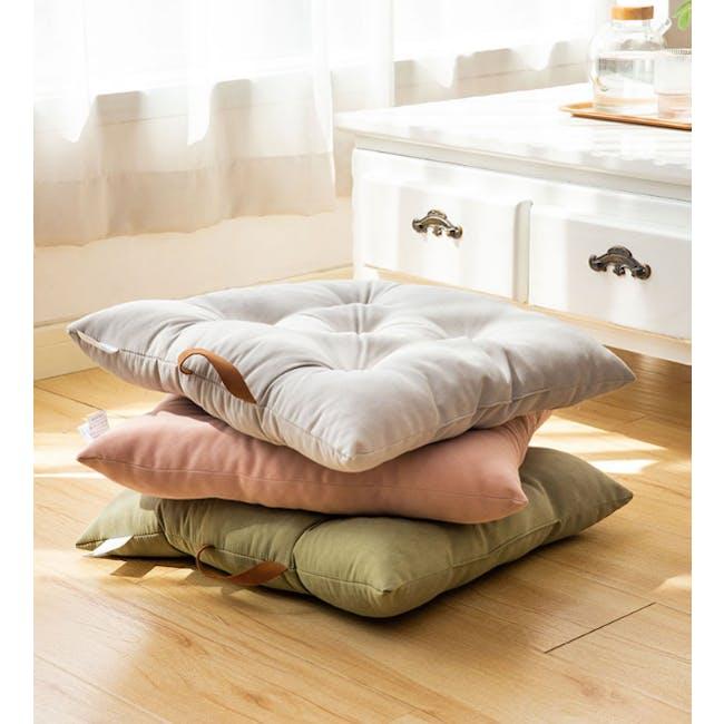 Esme Floor Seat Cushion 40cm - Olive - 2
