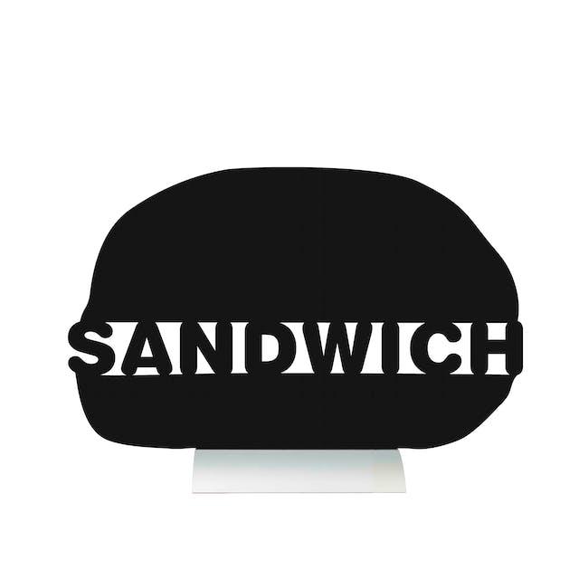 Securit Sandwich-Shaped Table Chalkboard - 0