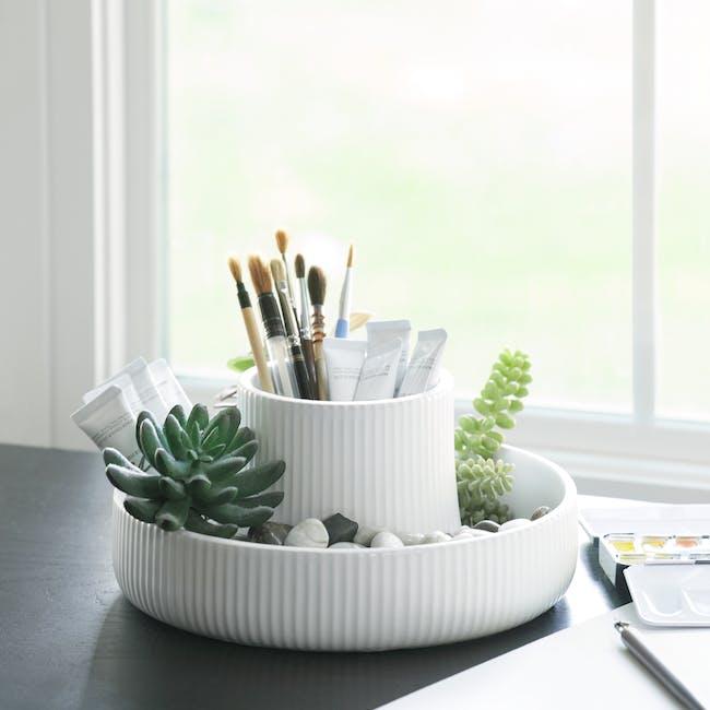 Fountain Ceramic Planter - White - 8