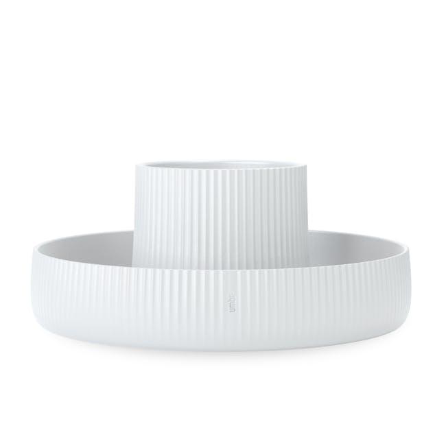 Fountain Ceramic Planter - White - 0
