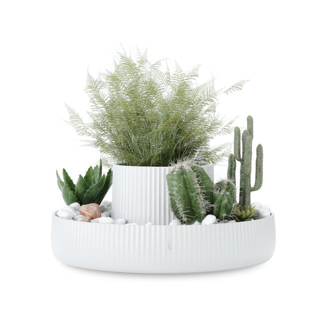 Fountain Ceramic Planter - White - 6