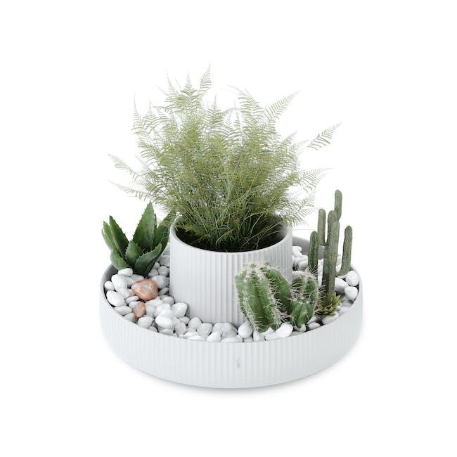 Fountain Ceramic Planter - White - 5