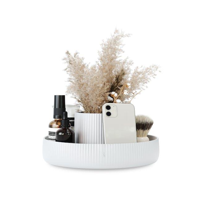 Fountain Ceramic Planter - White - 3