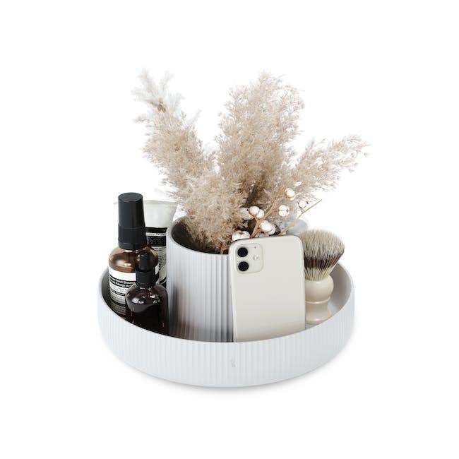 Fountain Ceramic Planter - White - 4