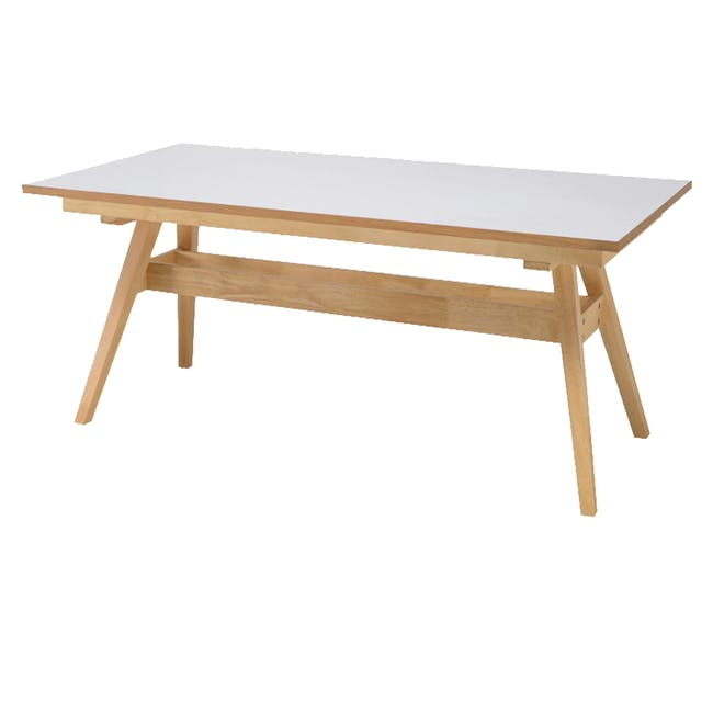 Valko Dining Table 2m - White, Oak - 0