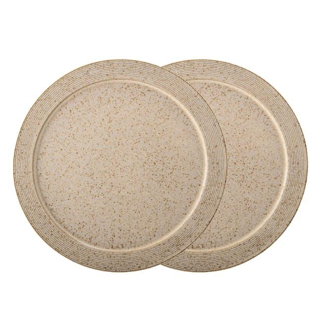 Lena Dinner Plate - Brown (Set of 2) - 0