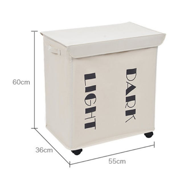 Mory Laundry Hamper with Wheels - 7