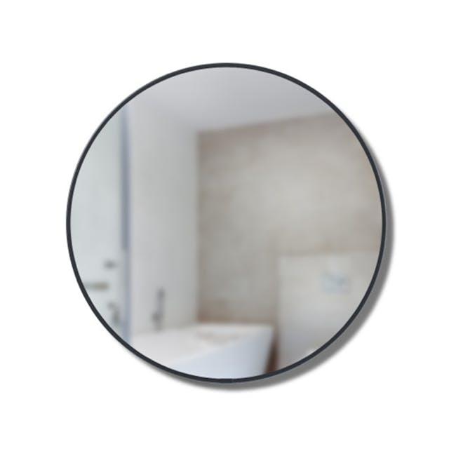 Cirko Round Storage Mirror 50 cm - Black - 4
