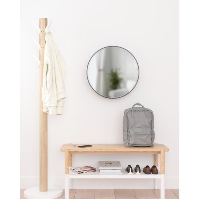 Cirko Round Storage Mirror 50 cm - Black - 1
