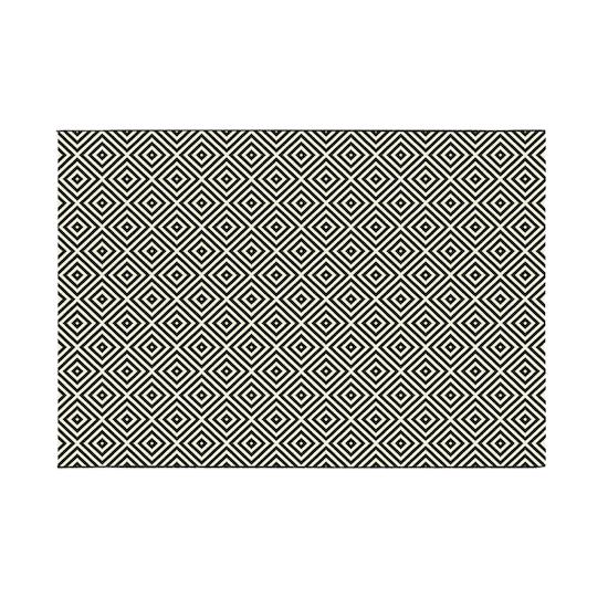 Heritage Carpets - Essenza Flatwoven Rug 2.9m x 2m - Black Lozenge
