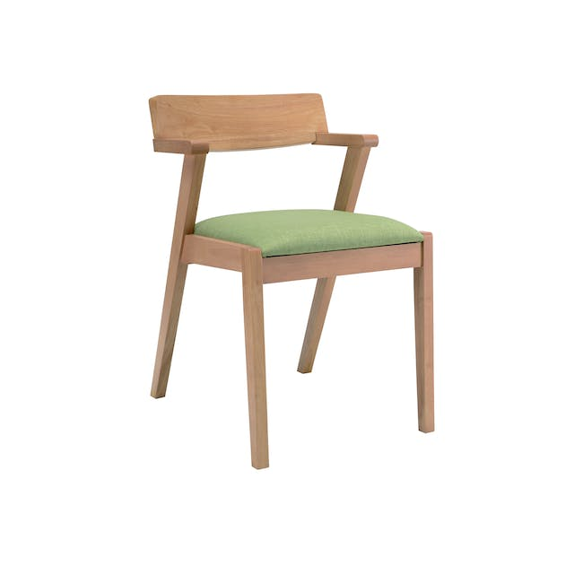 Odette Dining Table 1.6m with 4 Imogen Dining Chair in Dolphin Grey and Spring Green - 8