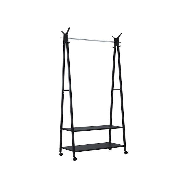 Hiyan Clothes Hanger - Matte Black - 0
