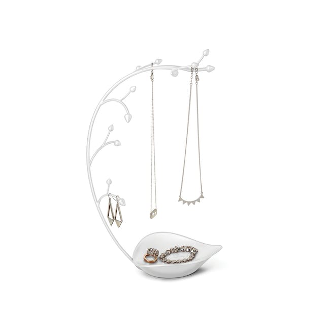 Orchid Decor Jewelry Stand - White - 0