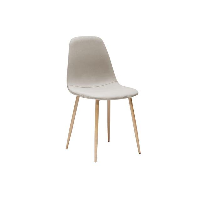 Finnley Dining Chair - Oak, Wheat Beige - 0