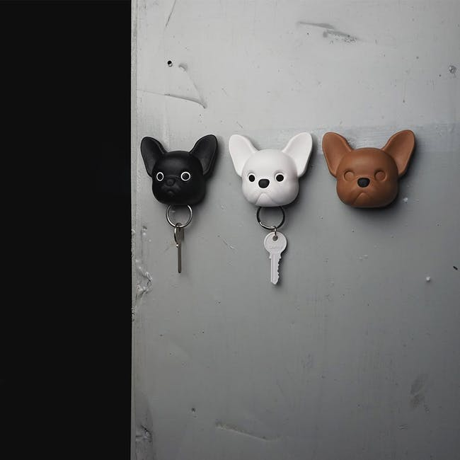 Frenchie Bulldog Key Holder - Brown - 1