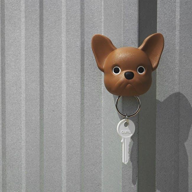 Frenchie Bulldog Key Holder - Brown - 2