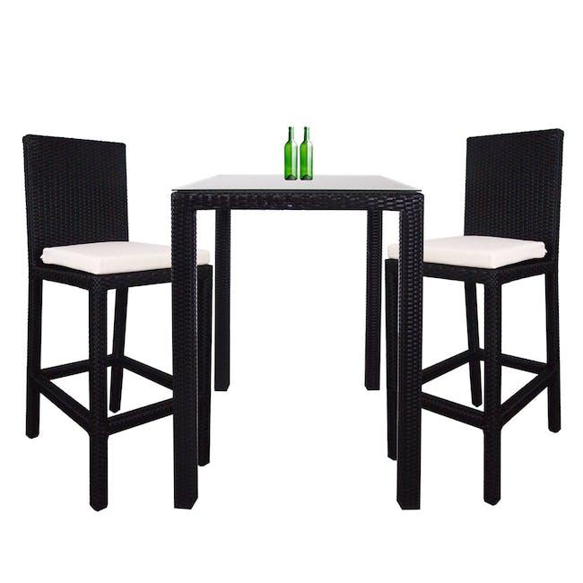 Midas 2 Chair Bar Set - White Cushion - 0