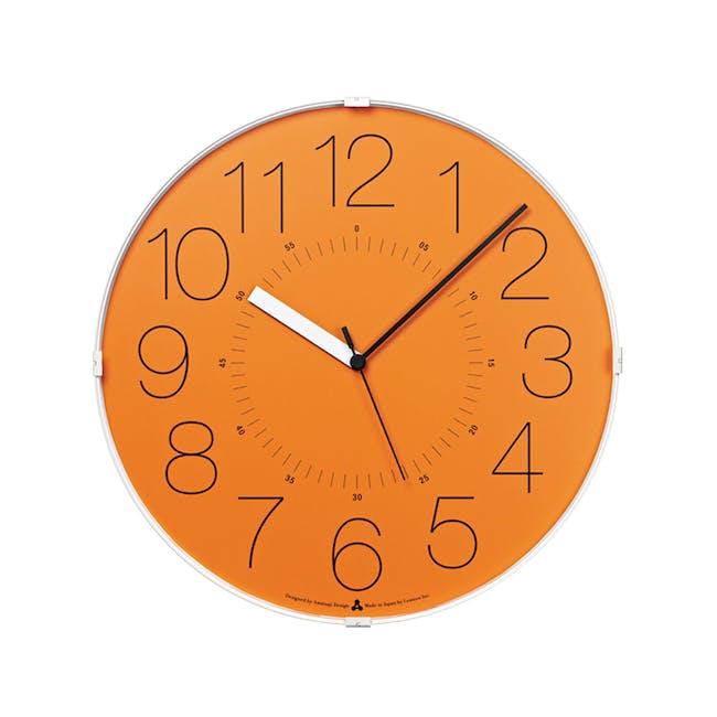Cara Wall Clock - Orange - 0