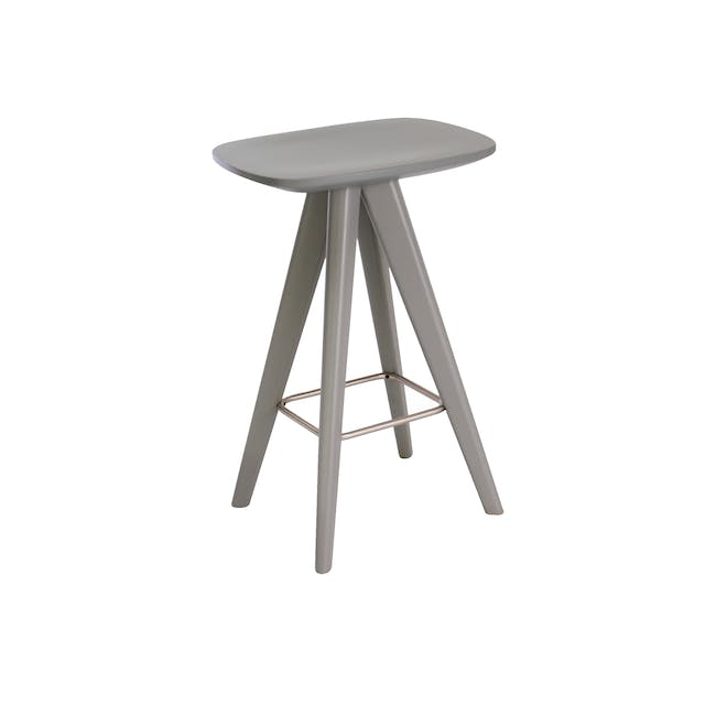 Freya Counter Stool - Grey Lacquered - 0