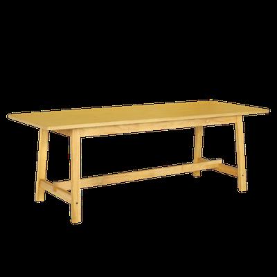 (As-is) Haynes Dining Table 2.2m - Oak - 1 - Image 1