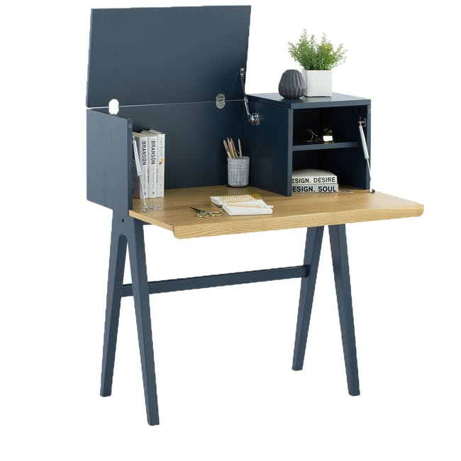 Valen Study Table - Space Blue - 1