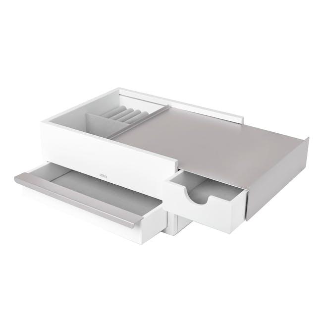 Stowit Storage Box - White, Nickel - 3