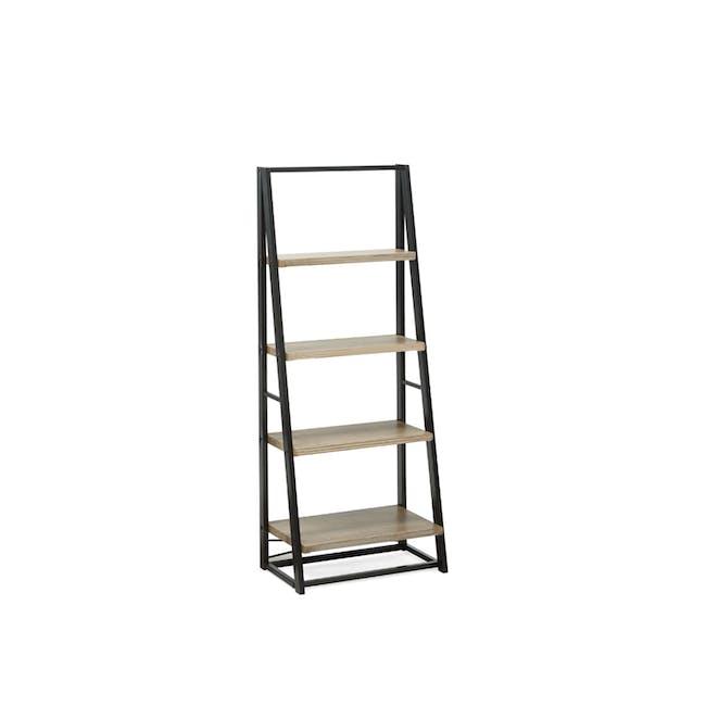 Luca Medium Shelf- Black, Oak - 0