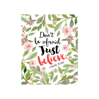 Don't Be Afraid Canvas Art Print - Image 2