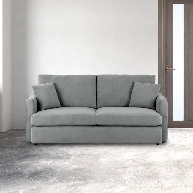 Ashley 3 Seater Lounge Sofa - Stone - 1